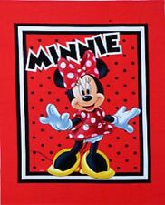 Minnie Mouse - Born to Shop Quilting Craft Panel -Cot Quilt Panel  Cotton Fabric