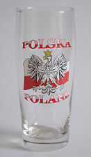 PATRIOTIC BEER GLASS - POLSKA - POLAND - FLAG PINT BIRTHDAY GIFT PARTY EAGLE