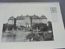 1909... Bauzeitung 80/Werneck Ebrach/Johannes Otzen de siesebye
