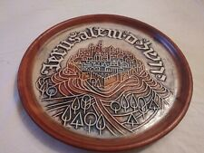 VINTAGE ISRAEL BEIT HAYOTSER WEISHOFF JERUSALEM CERAMIC WALL LARGE PLAQUE PLATE