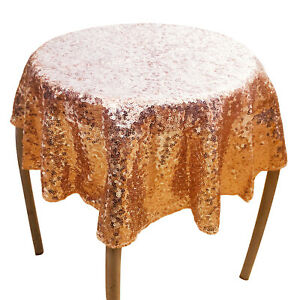 Glitter Sequin Tablecloth Round Table Cloth Topper Wedding Party Banquet Fabric