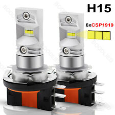 2x H15 LED CSP 6SMD Headlight Car Fog Daytime Running Light Bulb DRL White Lamp