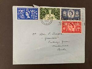 Postal History GB QE2 1953 Coronation FDC - Full Set