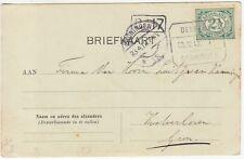 Netherlands: Postcard; Delft to Groningen, 23 April 1912
