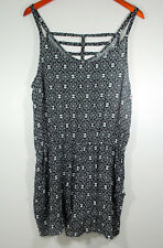 b5287cbcc1ac Xhilaration Womens Romper Shorts XL Black White Print Sleeveless NWOT  Festival