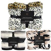 Luxury Super Soft Blanket Throw Faux Fur Flannel Fleece Sofa Bed 200cmx240cm