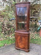 Vintage mahogany corner cabinet display cabinet with keys, shabby chic project