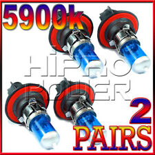 H13 9008 55/60W 5900K SUPER WHITE XENON HID LIGHT BULBS LOW/HIGH BEAM -4 PCS