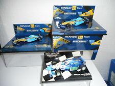 minichamps 1 43 lot 3 Renault F1  R 24 + R 25 + B 196 Berger  + BOITEs