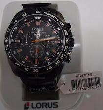 Lorus Mens Black Chronograph RT327EX9 Watch