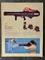 Mattel Agent Zero M Sonic Blaster Original 1965 Trade print AD
