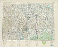 Russian Soviet Military Topographic Maps - CALCUTTA (India), 1:500K, ed. 1959