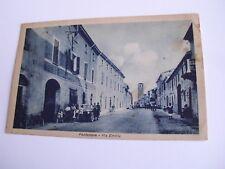 Piacenza - Pontenure Via Emilia + auto d'epoca - spedita f. p. 1947