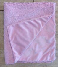 Baby Girls Blanket Light Pink Plush Velour Sherpa Fuzzy Back Security Lovey