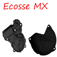 KTM EXC250 EXC300 13-16 Polisport Ignition Cover Clutch Cover Black TE250 TE300