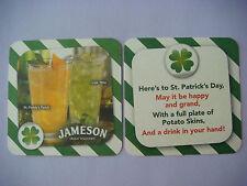 Beer Bar Coaster ~ JAMESON Irish Whiskey ~ St. Paddy's Peach Drink ~ Irish 'Rita