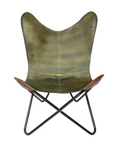 Green Leather Indoor/Outdoor Comfortable Arm Chair, Relaxing Office Chair S6-163