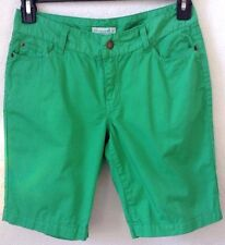 "Womens Green Shorts Size 6 Petite Caribbean Joe 100% Cotton 9"" Inseam New w/Tag"