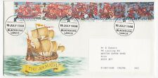 GB; 1988 Armada Set On Illustrated FDC, Kelloggs Cancel, Typed Address