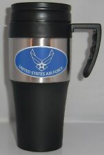 U.S. Air Force 14 oz Two Toned Travel Mug w/ Handle (Military)
