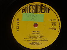 """Mike D'Abo:  Thankyou / Loving on a shoestring  7""""  NEW ex shop stock"""