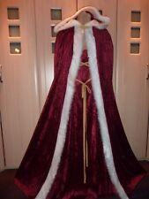 Sexy Santa dash Mrs Christmas red & white cloak cape