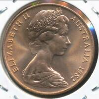 Australia, 1982 Two Cent, 2c, Elizabeth II - Choice Uncirculated