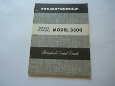 Marantz Model 3300 ORIGINAL Control Console Factory Service Manual Very Clean