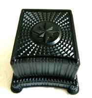 RARE DECO VINTAGE 'ROCKET JEWELRY' LARGE BLACK BAKELITE PLASTIC RING JEWELRY BOX