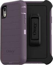 OtterBox Defender Series Rugged Case & Clip Holster for iPhone XR, Purple Nebula