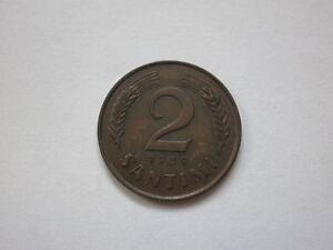 LATVIA 2 santimi 1939 About UNC