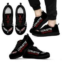 Corvette C7/C6/C5/C4/C3/C2/C1/Z06/ZR1 Men's Black Sneakers - Men's Shoe