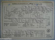METZ Typ Konsul W 56 Schaltplan, Stand ca. 1949
