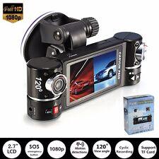 2.7'' HD Dual Lens in Car DVR Camera Dash Crash Cam Video Recorder Night Vision