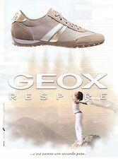Publicité 2010 chaussure GEOX respire c'est comme une seconde peau