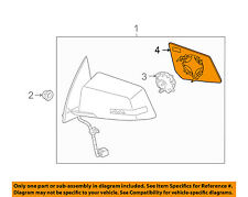GM OEM Outside Mirrors-Front Door-Mirror Glass Right 25990004