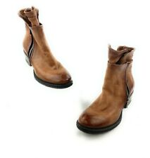 A.S. 98 Free People Cadmus Leather Distressed Boho Boots Booties Sz 40 Moto