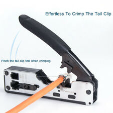Stapler type RJ45 Crimper Cat7 Cat6 Cable Crimping Multifunction Network tool