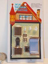 Dolls House Minaiture 1 48 Scale Plastic Bedroom Furniture Set Suite