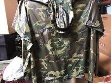 Genuine Issue US Military Poncho, Woodland Camo, NSN: 8405-01-100-0976