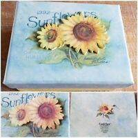Susan Winget 3D Sunflowers Stationery Collectible Box 10 Cards Envelopes Flowers