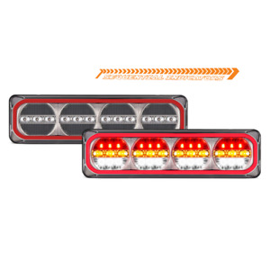 LED Autolamps 385ARWM Maxilamps Stop/Tail/Sequential Indicator/Reverse Twin Pack