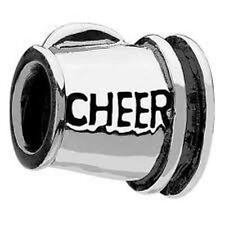 AUTHENTIC CHAMILIA STERLING SILVER GD-3 CHEER MEGAPHONE CHEERLEADER BEAD CHARM