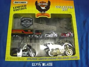 Harley miniture motorcycle Matchbox 90th Anniversary truck FLT Shovel NOS EP4659