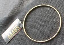 """New Signed SAVVY Goldtone Multi Color Swarovski Crystals Bangle Bracelet 2 5/8""""d"""