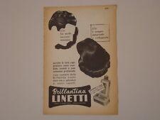 advertising Pubblicità 1955 BRILLANTINA LINETTI
