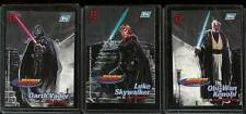 TOPPS' STAR WARS FINEST EMBOSSED CHASE CARDS F1,F2 & F3