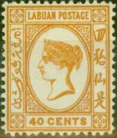 Labuan 1893 40c Brown-Buff SG47a Fine Mtd Mint (5)