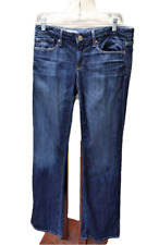Gap Womens 28 6R 1969 Sexy Boot Cut Jeans Cotton Stretch Creased Distressed Dark