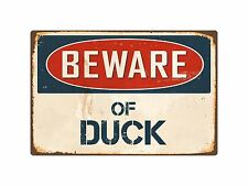 "Beware Of Duck 1 8"" x 12"" Vintage Aluminum Retro Metal Sign VS147"